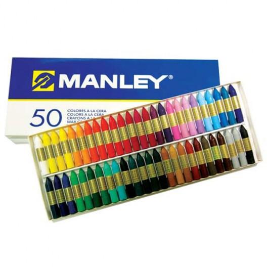 50 lápices de cera blanda Manley