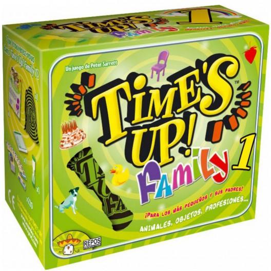 Time's Up! Family Verde - juego de adivinar para 4-12 jugadores