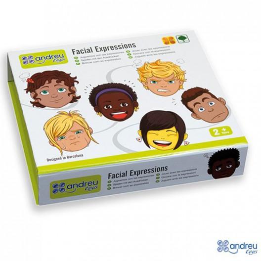 Cares expressives de fusta - Joc d'associació d'imatges