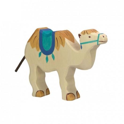 Camello con silla para montar - animal de madera