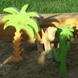 Palmera mediana - planta de madera