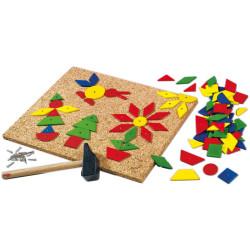 """Juego con clavos """"Zack"""" con figuras geométricas 100 piezas"""