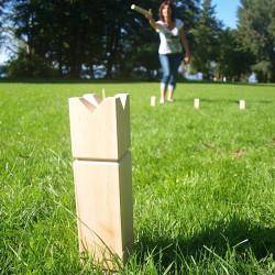 KUBB - un juego vikingo, en bolsa de algodón