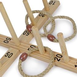 Juego de anillos de madera, en bolsa de algodón