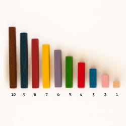 Regletas numéricas según Maria Antonia Canals - paquetes de 20 unidades