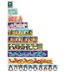 1, 2, 3...10 Pingüinos puzzle progresivo - 55 pzas.
