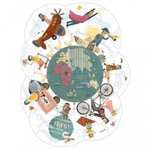 Puzzle Paseando por el mundo - 54 pzas.