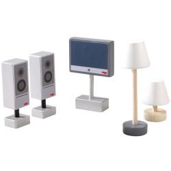 Little Friends - Televisor y lámparas para la casa de muñecas