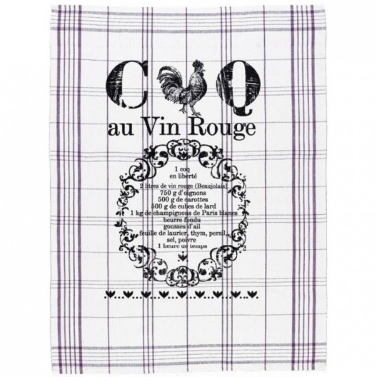 Paño de cocina Coq au Vin Rouge - últimas unidades