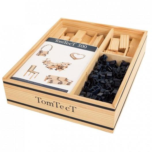TomTecT 500 piezas - Cofre grande con plaquitas de construcción multilongitudes