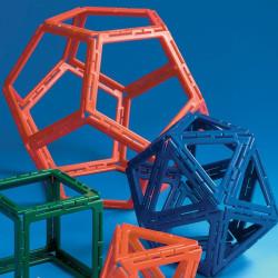 Polydron 50 piezas marco sólidos platónicos - juguete de formas geométricas