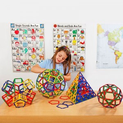 Polydron maletín 268 piezas marco para el aula - juguete de formas geométricas