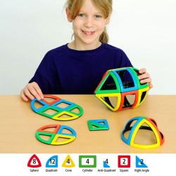 Magnetic Polydron Sphera 36 piezas imantadas - juguete de formas geométricas