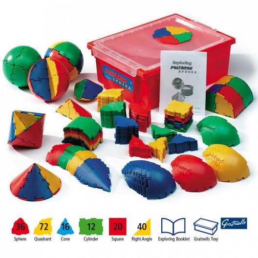 Polydron Sphera set de 196 piezas para el aula - juguete de formas geométricas
