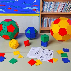 Polydron 164 piezas set básico - juguete de formas geométricas