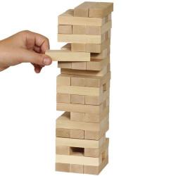 Torre HEROS tipo Jenga, bloques de madera y juego de destreza
