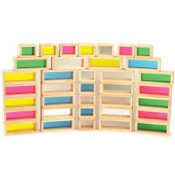 36 bloques sensoriales gigantes Arco Iris