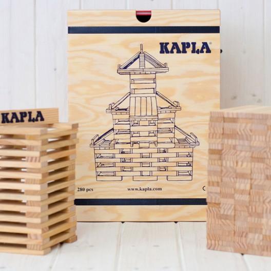 KAPLA 280 piezas - Placas de construcciones de madera con libro
