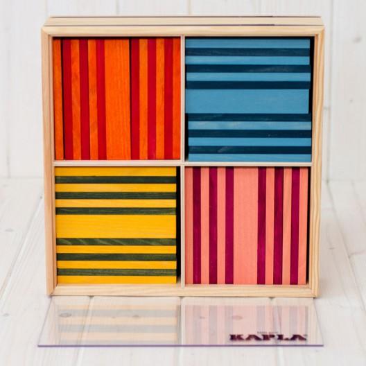 """KAPLA 100 peces """"Octocolor""""- plaques de fusta de construcció"""