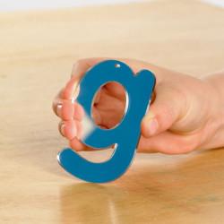 Letras acrílicas de espejo - minúsculas