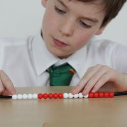 Cadena de 20 bolas para contar para el aula - pack de 10