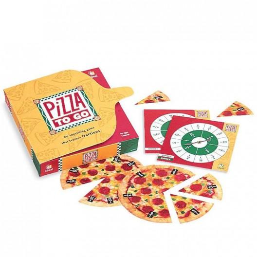 Pizza para llevar - juego de fracciones