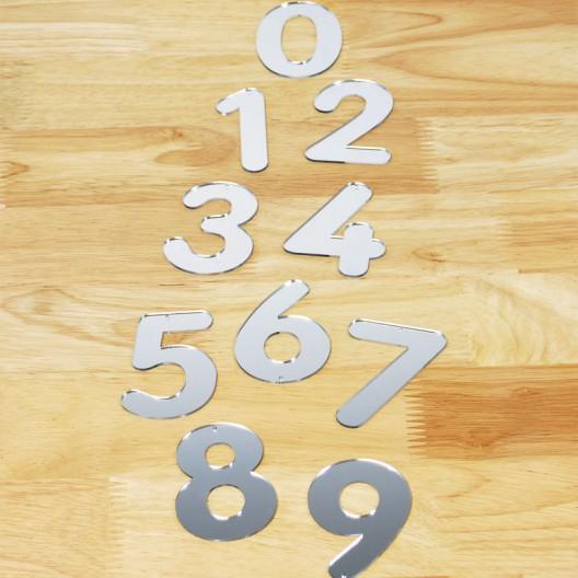 Números acrílicos espejo grande del 0 a 9