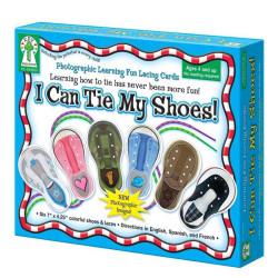 Aprendo a atarme los zapatos - juego de cartas enhebrables
