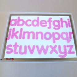 Letras de silicona rosa - minúsculas