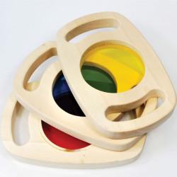 Set de tres paneles sensoriales de madera