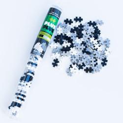 Plus-Plus Tubo Mini Escala Gris 100 piezas - juguete de construcción