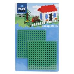 2 Bases 12x12 para Plus-Plus - juguete de construcción