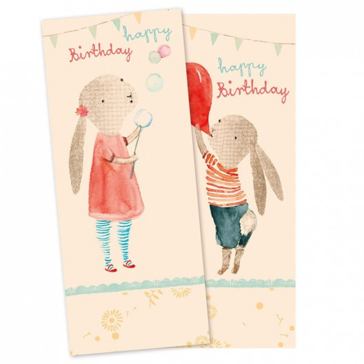 Servilletas de papel - Birthday Conejitos
