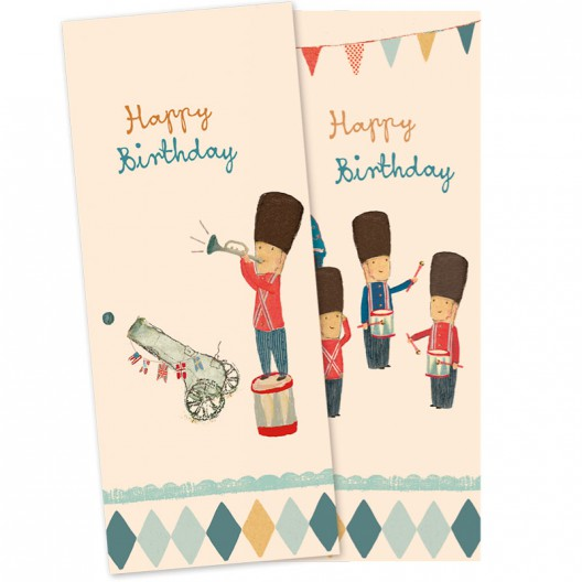Servilletas de papel - Birthday Soldaditos - últimas unidades