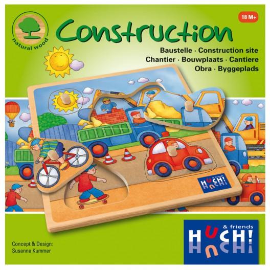 La Construcción - Puzzle de encaje de madera natural - últimas unidades