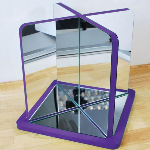 Espejo de centro con marco de goma eva