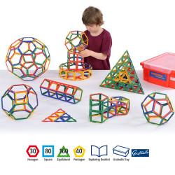 Polydron 160 piezas marco sólidos según Archímedes - juguete de formas geométricas