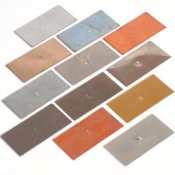 Placas de metales para el aula