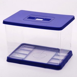Acuario de Plástico con base y tapa
