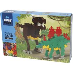 Plus-Plus Mini Basic  Dinosaurios 480 piezas colores básicos - juguete de construcción