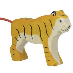 Tigre parado - animal de madera
