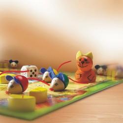 Ratones a la Carrera - Juego de mesa infantil para 2-4 jugadores
