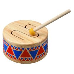 Tambor sólido Plantoys - instrumento musical de madera