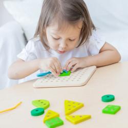 Tabla para coser - juego educativo de madera