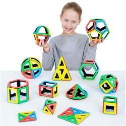 Magnetic Polydron set matemático 118 piezas imantadas - juguete de formas geométricas