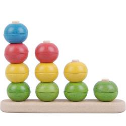 Contar y clasificar - juguete apilable con semiesferas