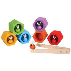 Abejas en la Colmena - juego de clasificación de madera