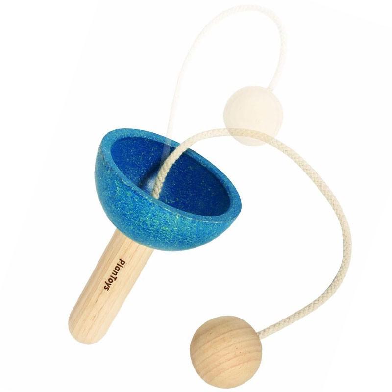 copa y bola juguete de habilidad de madera