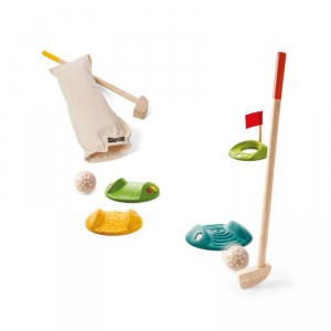 Mini Golf de madera Plantoys- Set para 2 jugadores