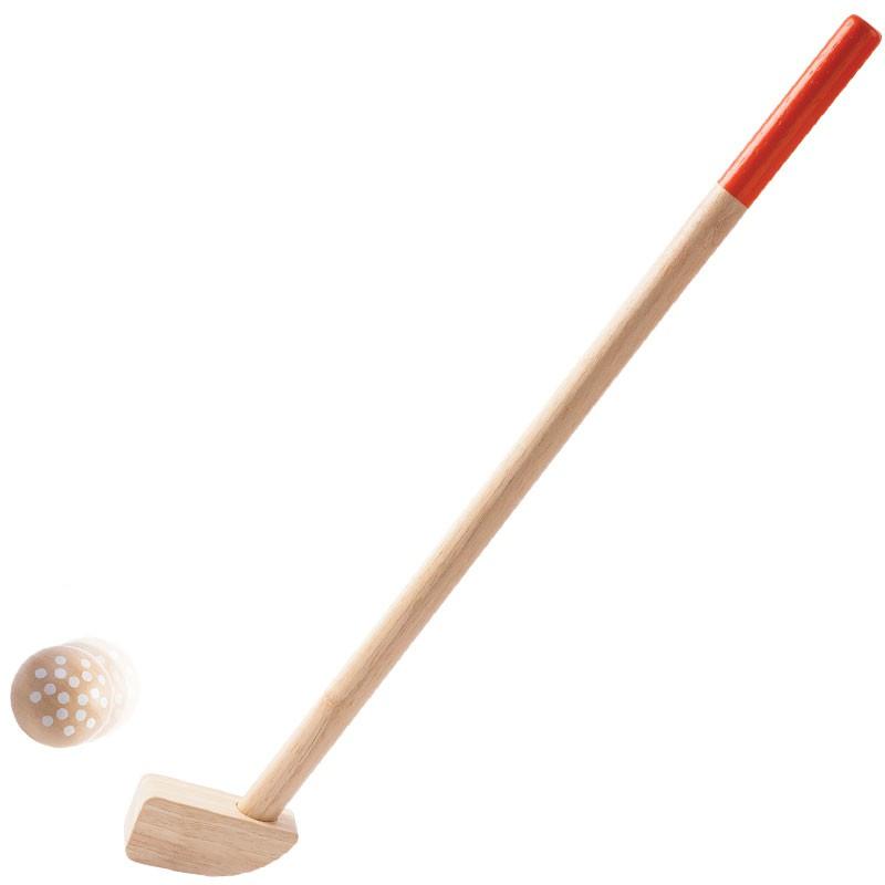 Mini golf de madera plantoys set para 2 jugadores for Minibar de madera
